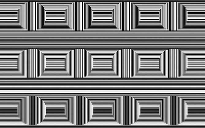 Có 16 hình tròn trong bức tranh ảo giác này nhưng mọi người đều không thể nhìn ra