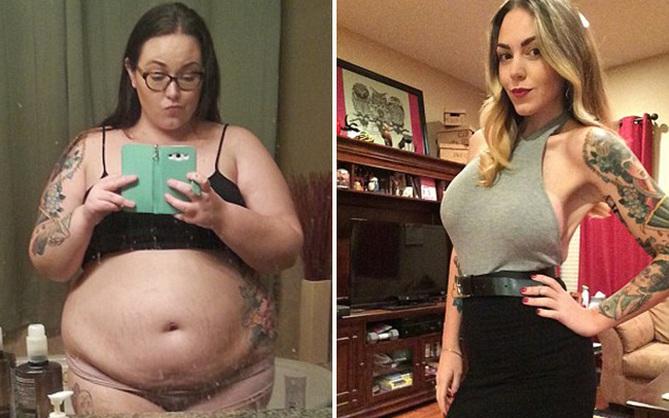 Cô gái 140kg giảm cân ngoạn mục với thân hình mới sexy và bộ ngực khủng