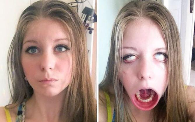 Khi 15 cô nàng xinh đẹp thích làm trò mặt xấu