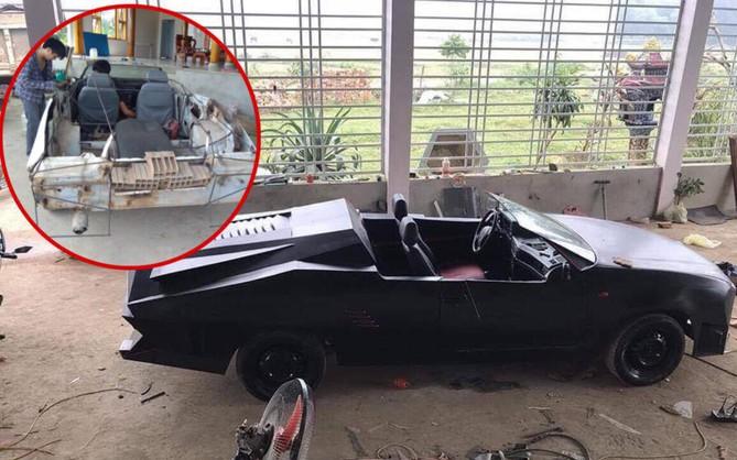"""Thanh niên bỏ 60 triệu mua ô tô đồng nát rồi hí hoáy mất hai tháng để biến nó thành """"siêu xe"""""""