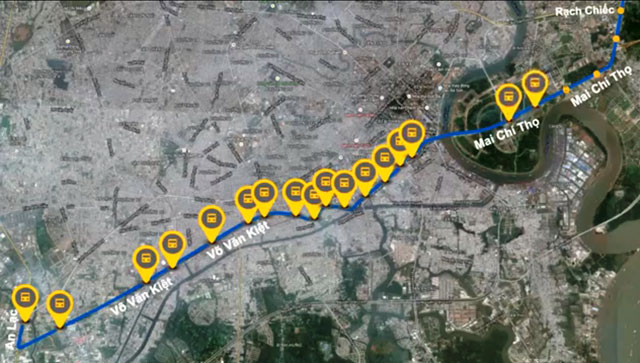 Hình ảnh mô phỏng xe buýt nhanh sắp hoạt động tại TPHCM - Ảnh 1.