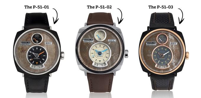 Đồng hồ lịch lãm được làm từ vỏ xe hơi Mustang cổ - Ảnh 3.