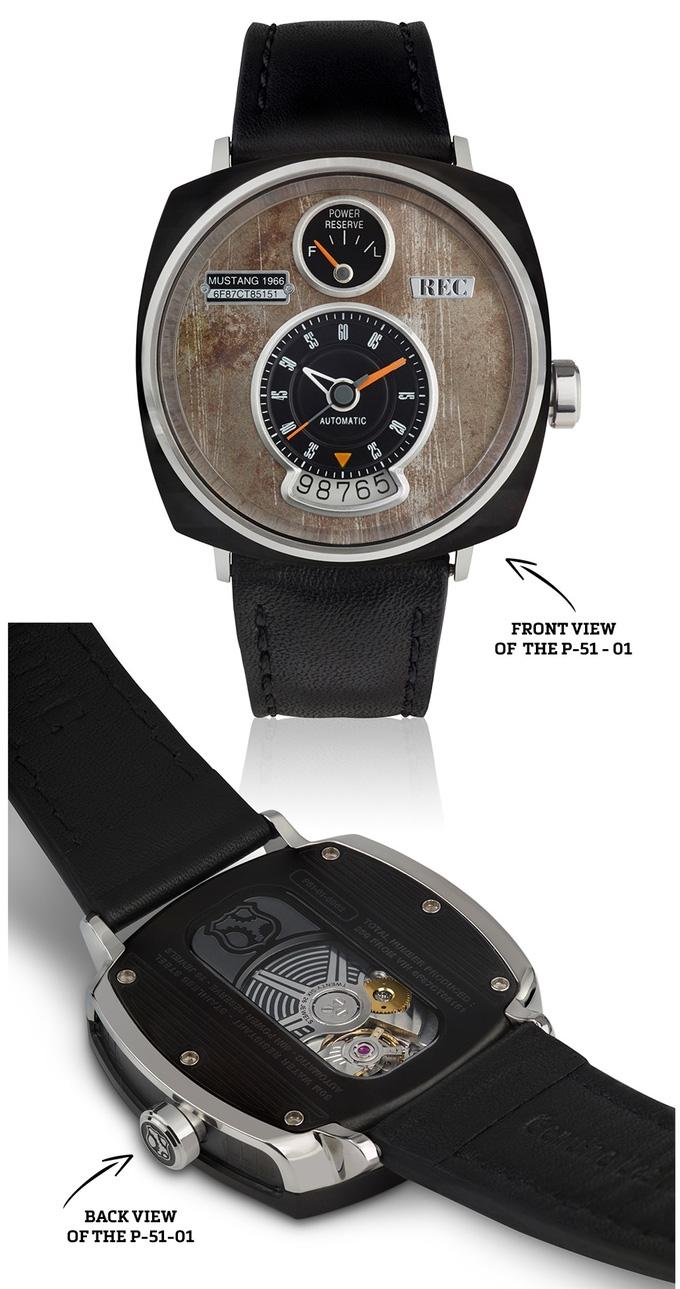 Đồng hồ lịch lãm được làm từ vỏ xe hơi Mustang cổ - Ảnh 4.