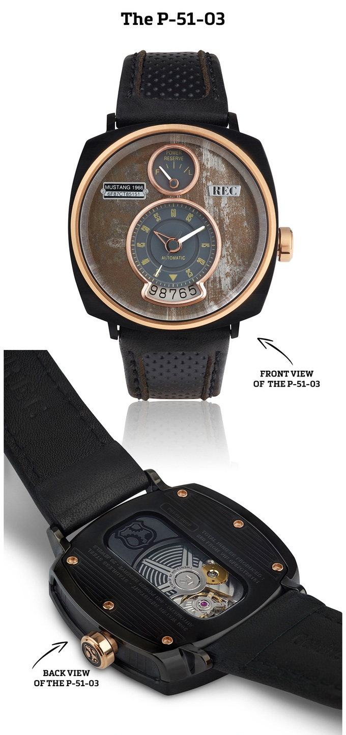 Đồng hồ lịch lãm được làm từ vỏ xe hơi Mustang cổ - Ảnh 6.