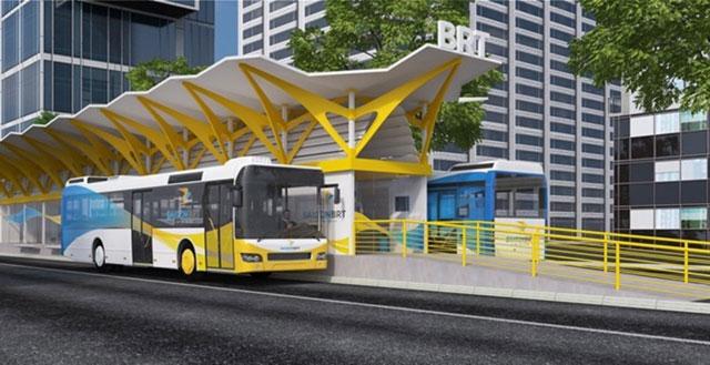 Hình ảnh mô phỏng xe buýt nhanh sắp hoạt động tại TPHCM - Ảnh 2.