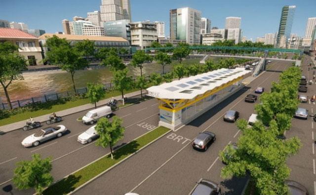 Hình ảnh mô phỏng xe buýt nhanh sắp hoạt động tại TPHCM - Ảnh 3.