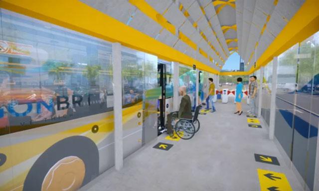 Hình ảnh mô phỏng xe buýt nhanh sắp hoạt động tại TPHCM - Ảnh 4.