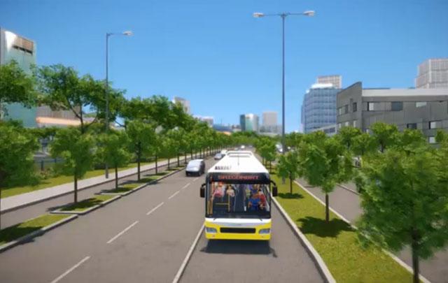 Hình ảnh mô phỏng xe buýt nhanh sắp hoạt động tại TPHCM - Ảnh 7.