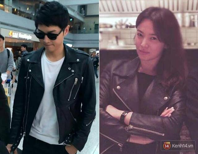Tất tần tật những lần Song Joong Ki và Song Hye Kyo vô tình mặc đồ giống nhau - Ảnh 1.