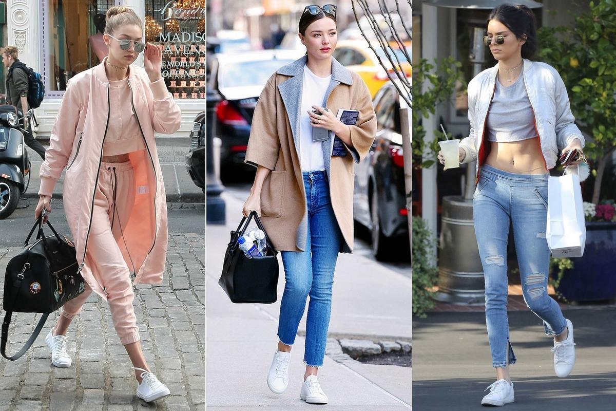 Chẳng phải Stan Smith hay Superstar, đây mới là mẫu sneaker trắng được Kendall, Gigi, Miranda mê nhất - Ảnh 1.