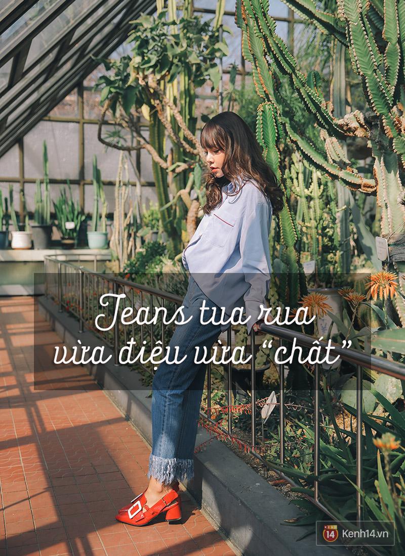 6 cách làm mới quần jeans đảm bảo chất từ các fashion blogger mà bạn nên học hỏi - Ảnh 4.