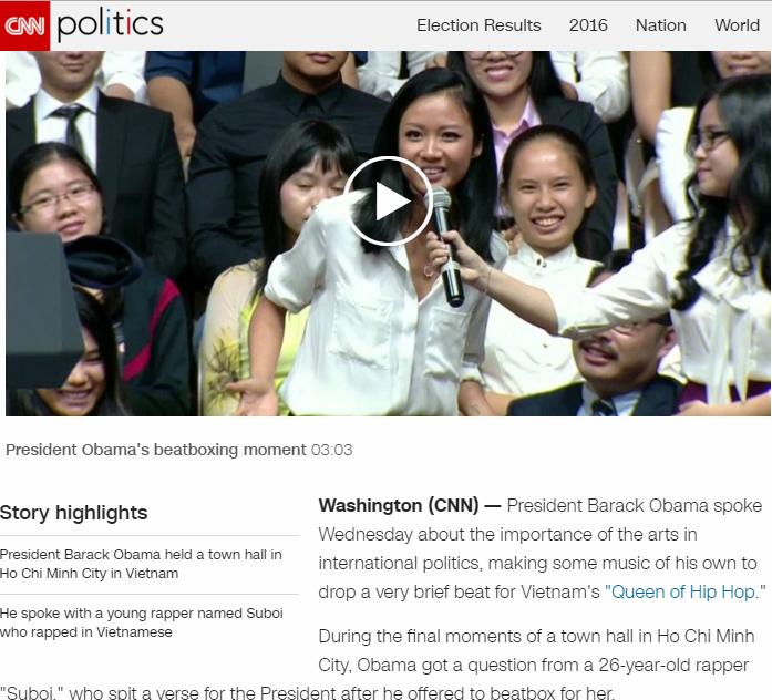 Đài CNN đăng tin và gọi Suboi là Nữ hoàng hiphop việt - Ảnh 2.