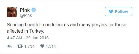 Hàng loạt sao thế giới kinh hoàng vì vụ khủng bố dã man ở Thổ Nhĩ Kỳ - Ảnh 1.