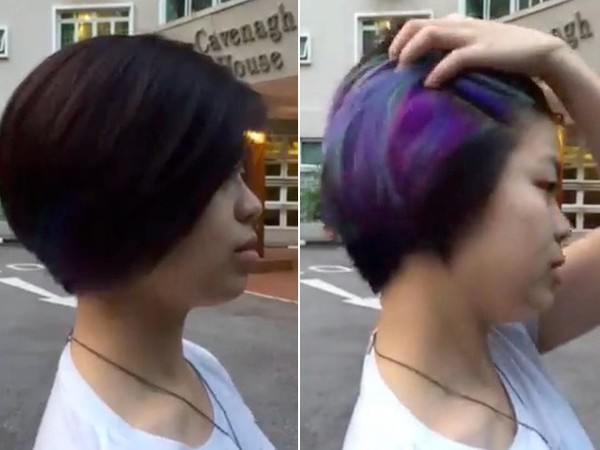 Màn đổi màu tóc ảo diệu của cô gái khiến hàng triệu người sửng sốt - Ảnh 1.
