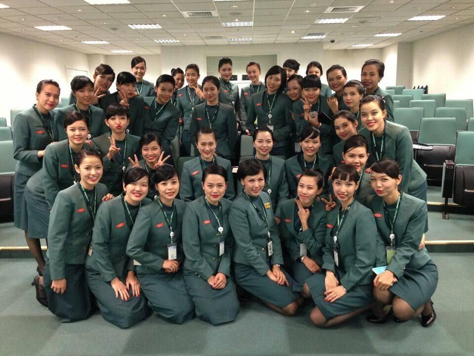Đội ngũ tiếp viên của hãng Eva Airlines