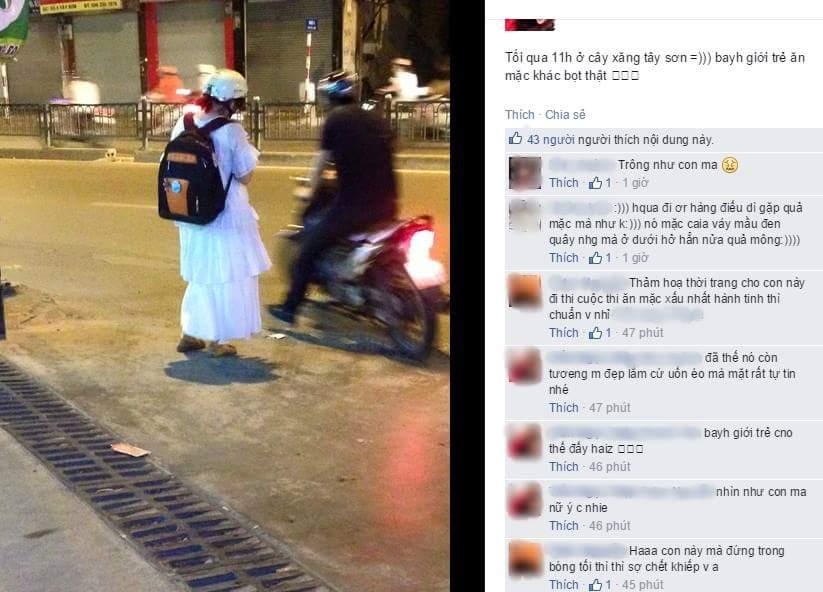 Câu chuyện tranh cãi: Khi bạn mặc theo sở thích và ra đường bị chê trông như con ma - Ảnh 1.