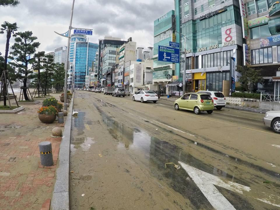 Cảnh tượng ngập lụt, đổ nát kinh hoàng sau bão tại siêu đô thị Busan của Hàn Quốc - Ảnh 22.