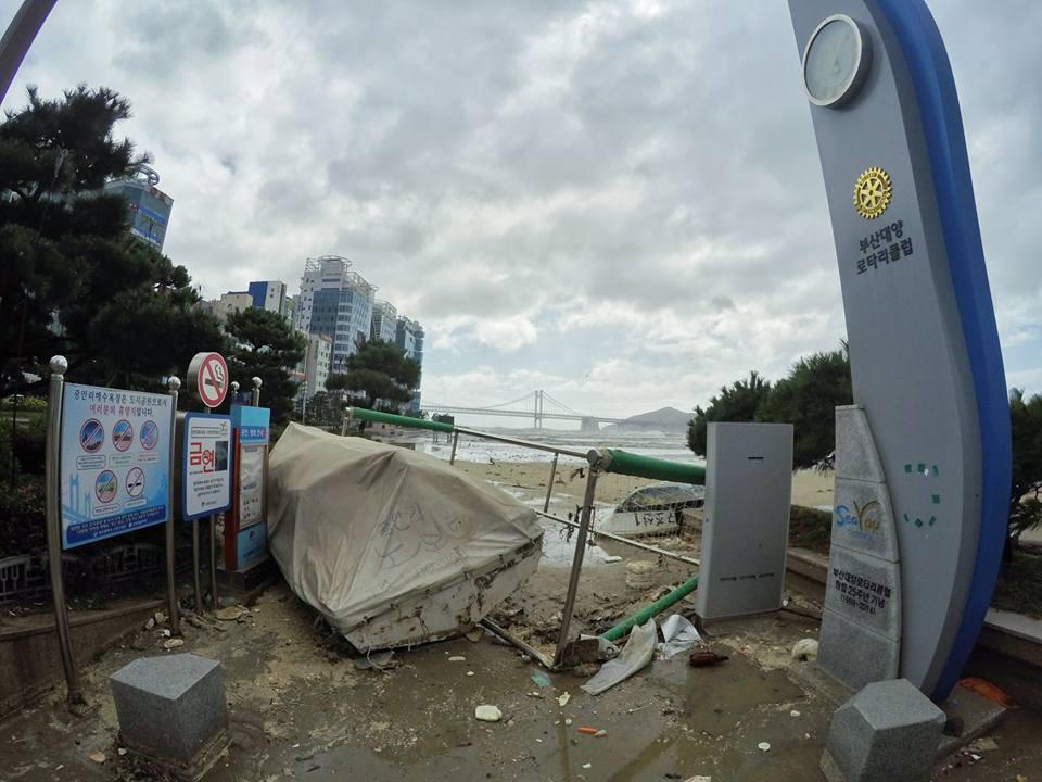 Cảnh tượng ngập lụt, đổ nát kinh hoàng sau bão tại siêu đô thị Busan của Hàn Quốc - Ảnh 23.