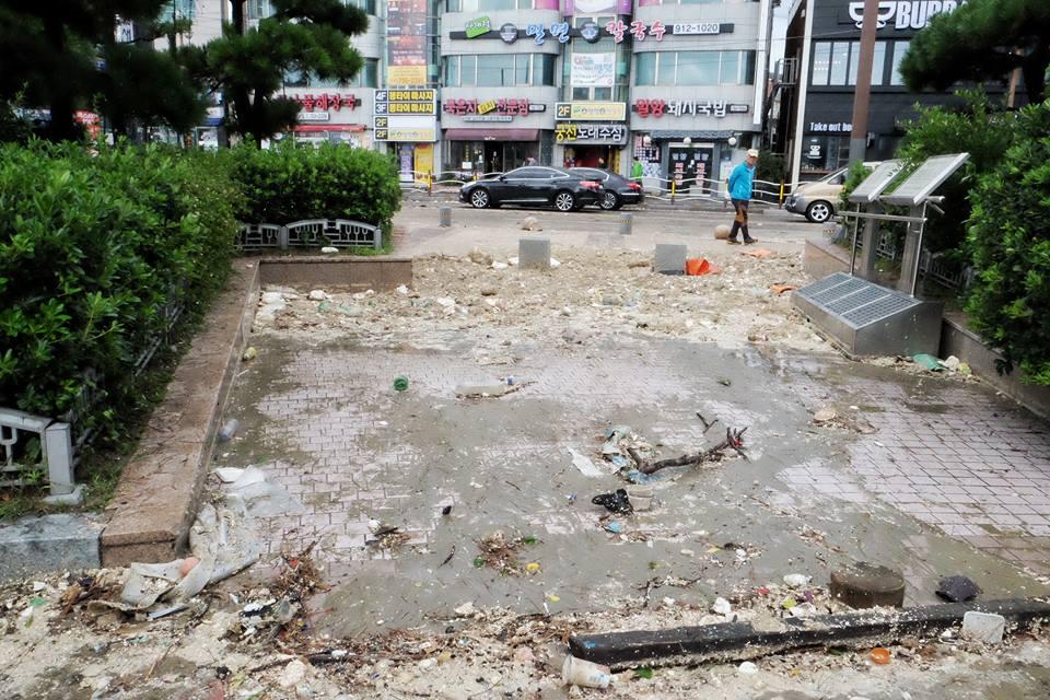Cảnh tượng ngập lụt, đổ nát kinh hoàng sau bão tại siêu đô thị Busan của Hàn Quốc - Ảnh 27.