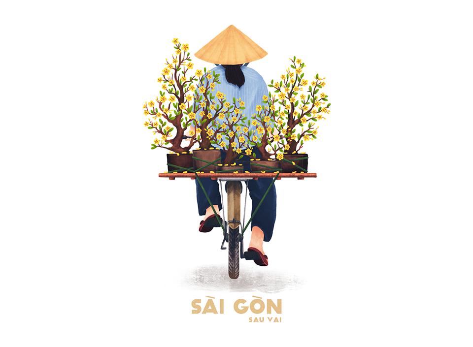 Bộ tranh Sài Gòn sau vai: Khi Sài Gòn thu bé lại chỉ bằng vài bờ vai! - Ảnh 2.