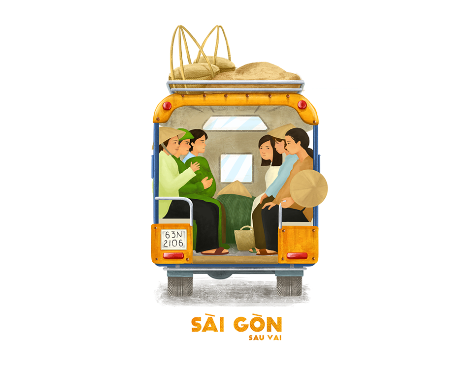 Bộ tranh Sài Gòn sau vai: Khi Sài Gòn thu bé lại chỉ bằng vài bờ vai! - Ảnh 11.