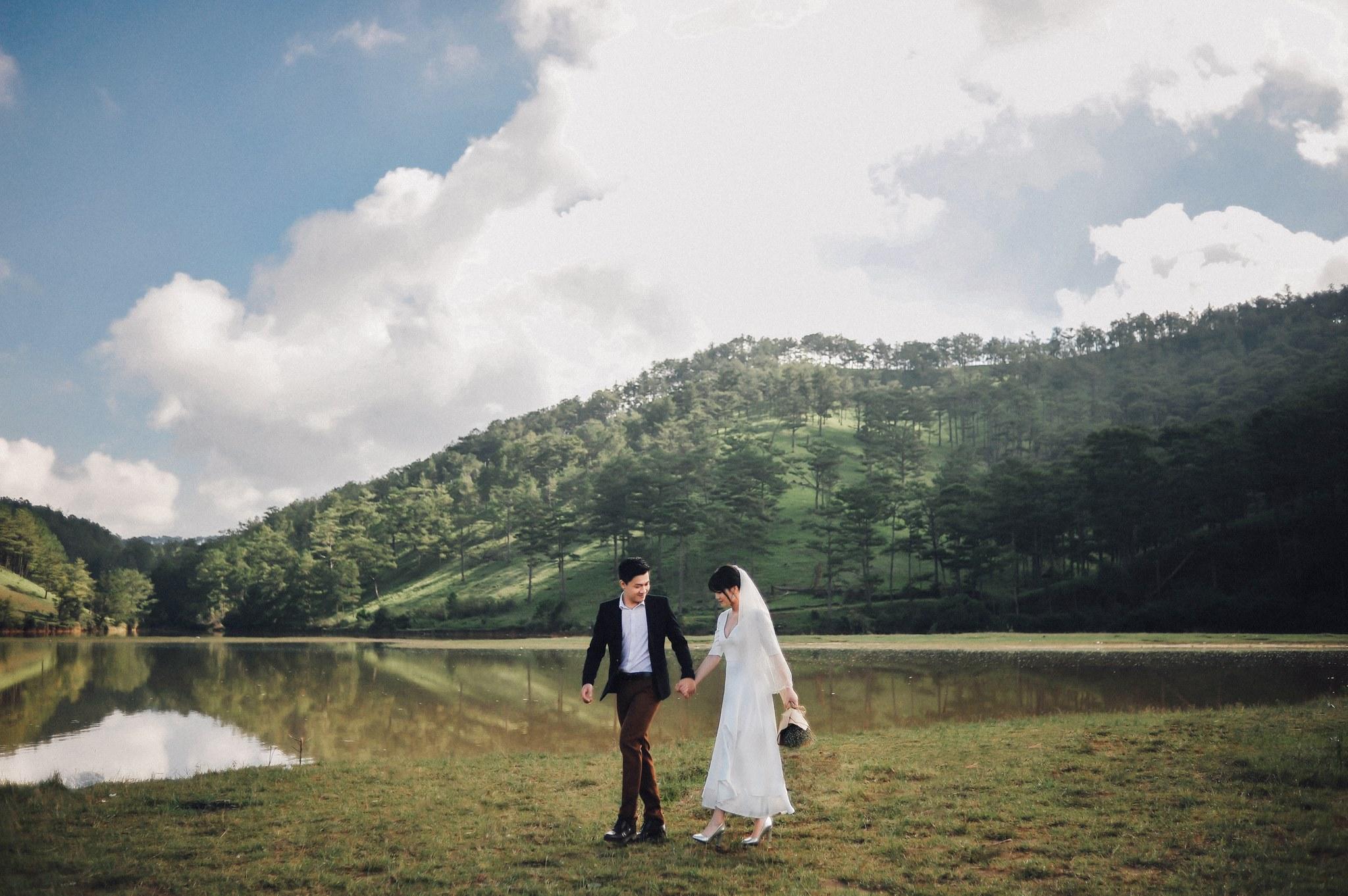 Trọn bộ ảnh cưới giản dị nhưng ngập tràn hạnh phúc của MC Trần Ngọc và 9x xinh đẹp - Ảnh 3.