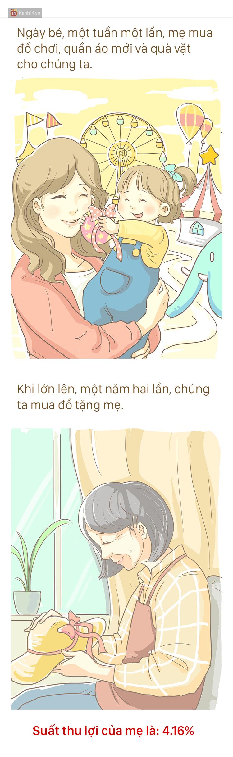 Bộ tranh cảm động về Mẹ: Trên đời này, mẹ là người không biết đầu tư nhất - Ảnh 2.