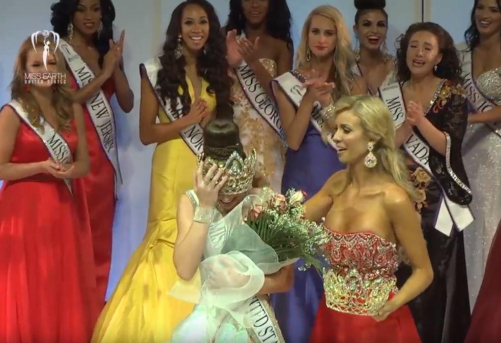 Hoa hậu Trái đất Mỹ bị bung váy, đội không vừa vương miện khi đăng quang - Ảnh 3.