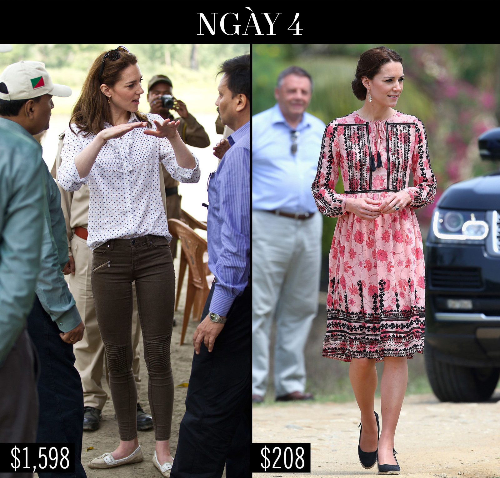 Công nương Kate chi hơn 1 tỉ VNĐ cho 17 bộ đồ trong tuần công du - Ảnh 12.