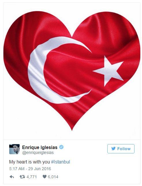 Hàng loạt sao thế giới kinh hoàng vì vụ khủng bố dã man ở Thổ Nhĩ Kỳ - Ảnh 4.