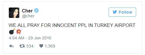 Hàng loạt sao thế giới kinh hoàng vì vụ khủng bố dã man ở Thổ Nhĩ Kỳ - Ảnh 5.