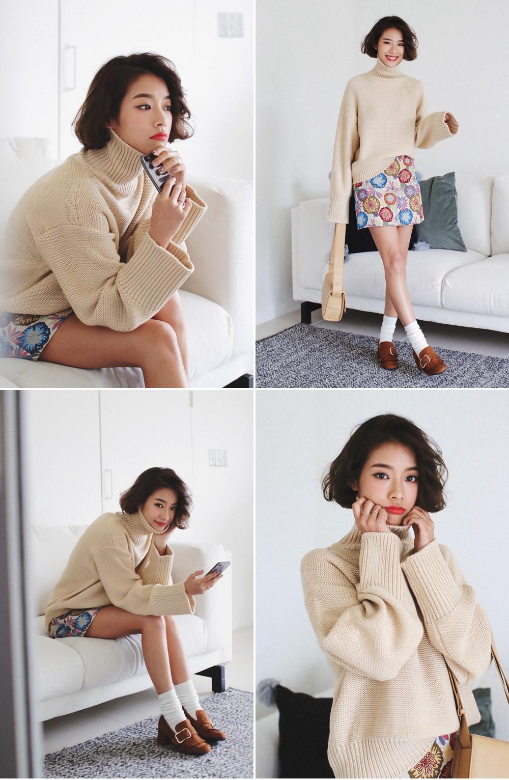 Mùa của những chiếc áo len cổ lọ đã đến, và đây là 7 cách diện thật chuẩn item này - Ảnh 28.