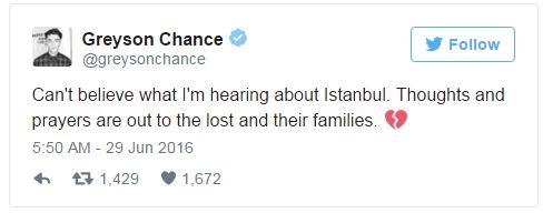 Hàng loạt sao thế giới kinh hoàng vì vụ khủng bố dã man ở Thổ Nhĩ Kỳ - Ảnh 9.