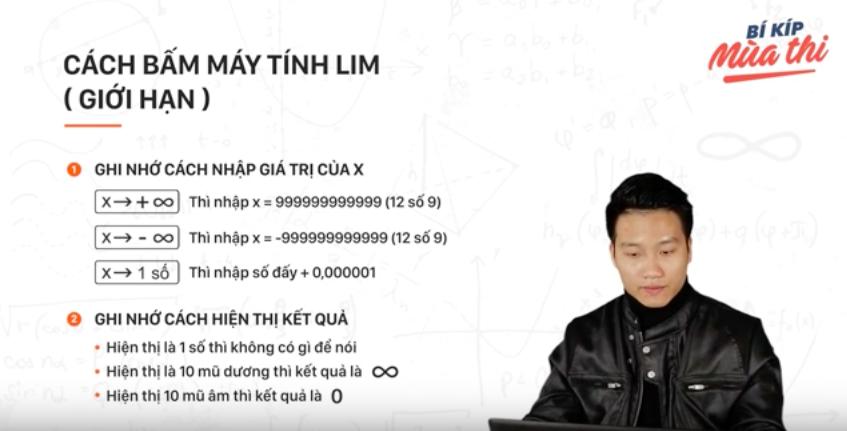 Clip: Bí kíp để xử nhanh bài toán giới hạn trong 10 giây - Ảnh 2.