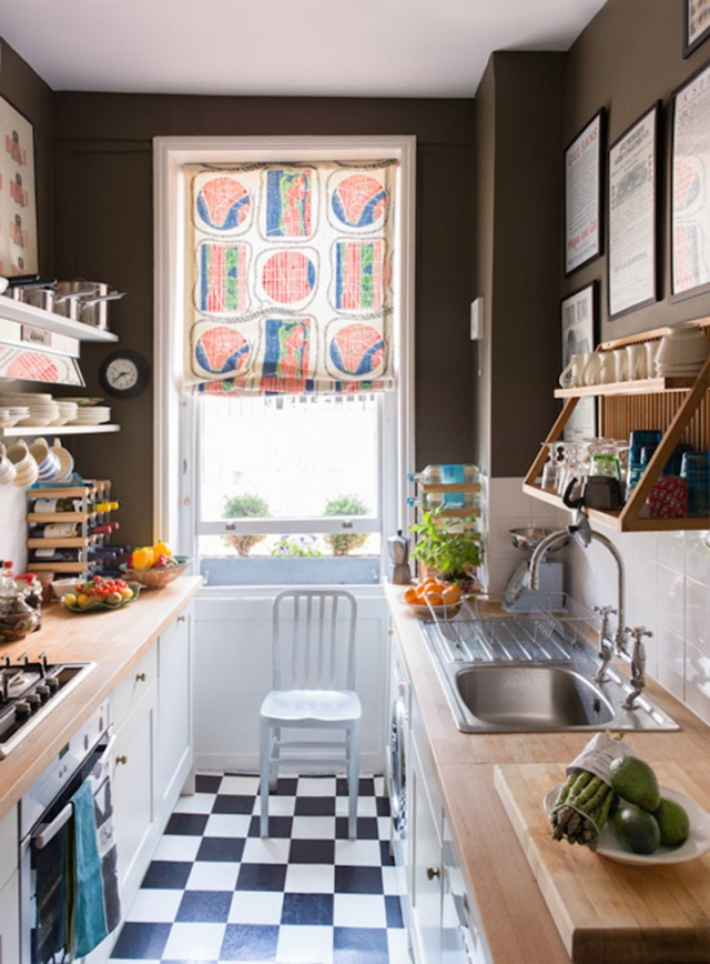 15 ý tưởng biến căn bếp chật hẹp trở nên lung linh