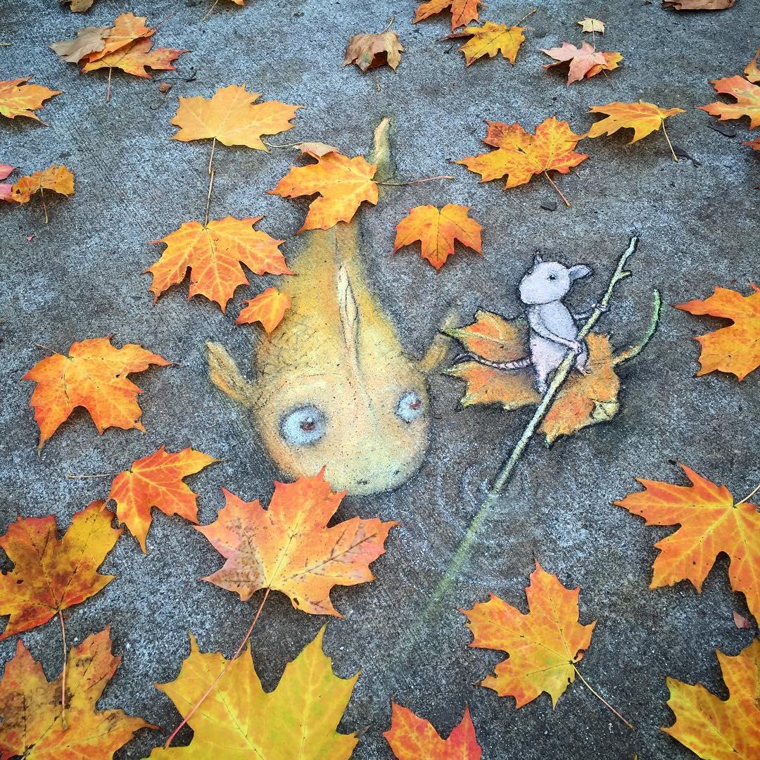 Phòng tranh nghệ thuật đường phố đầy sáng tạo của họa sĩ David Zinn - Ảnh 1.