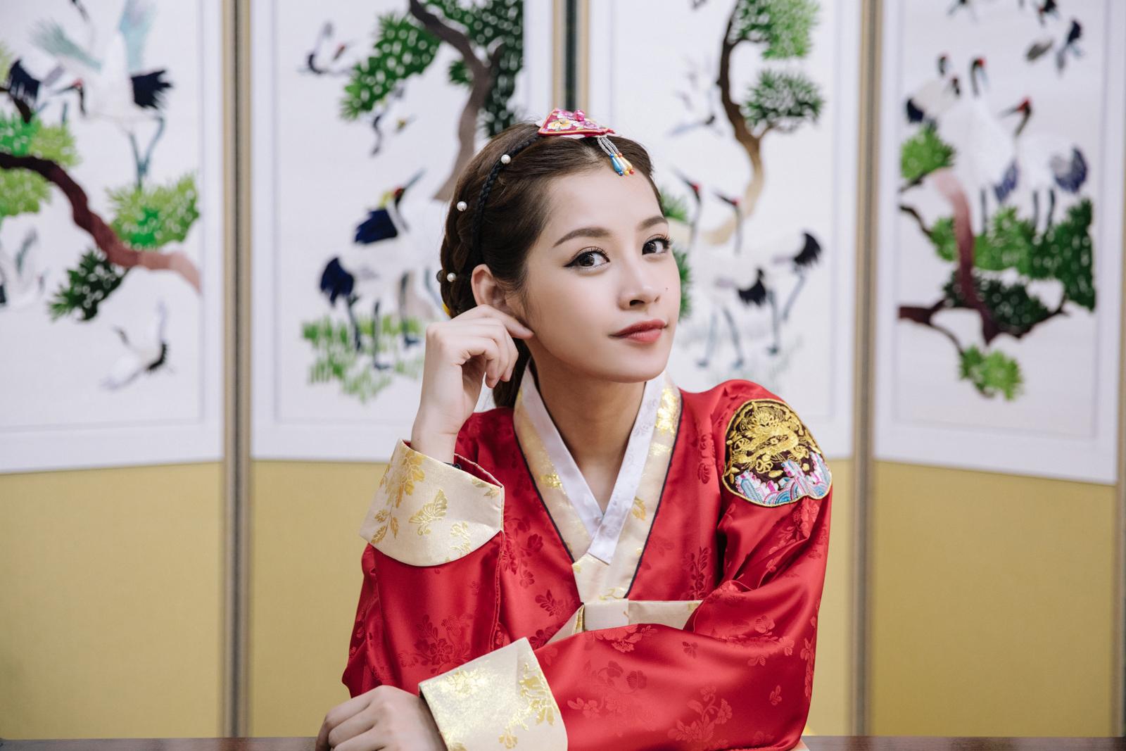 Những hình ảnh của Chi Pu trong trang phục Hanbok truyền thống của Hàn