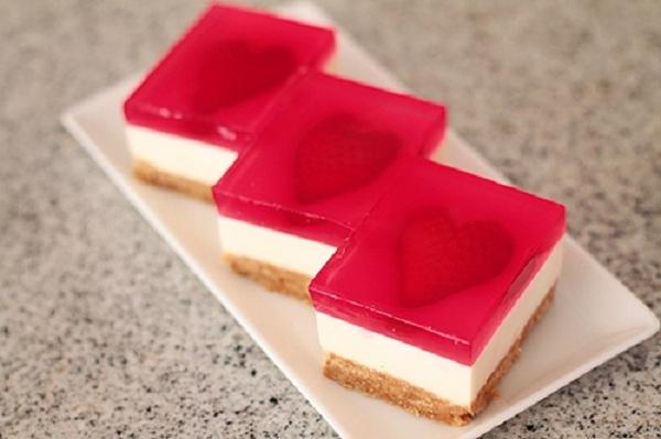 Học làm cheesecake thạch trái tim đem tỏ tình ngày Valentine - Ảnh 14.