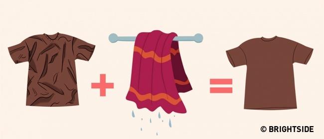 8 mẹo vặt loại bỏ nếp nhăn trên quần áo mà không cần bàn là - Ảnh 7.