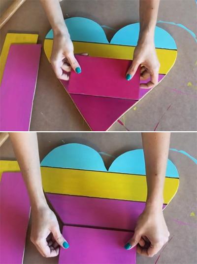 Tạo điểm nhấn trang trí tường với kệ treo tường trái tim sắc màu - Ảnh 8.