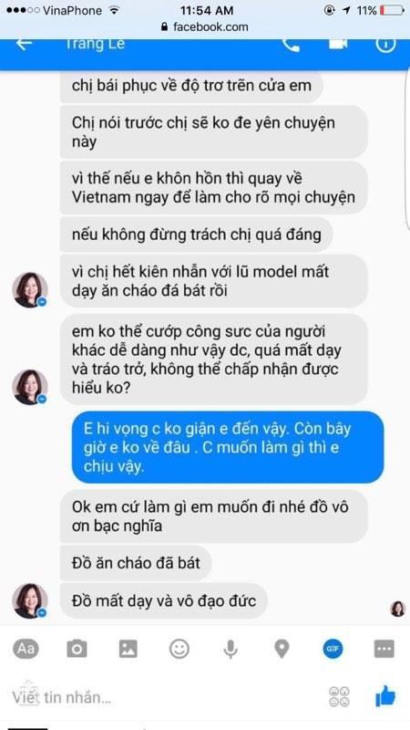 Lộ tin nhắn mẹ đẻ của VNTM đe dọa, công kích người mẫu ăn cháo đá bát - Ảnh 2.