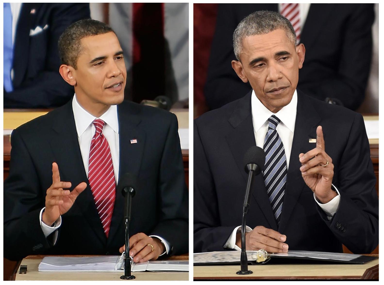 Sau 7 năm ngồi ghế Tổng thống, Obama đã thay đổi đến thế nào? - Ảnh 1.