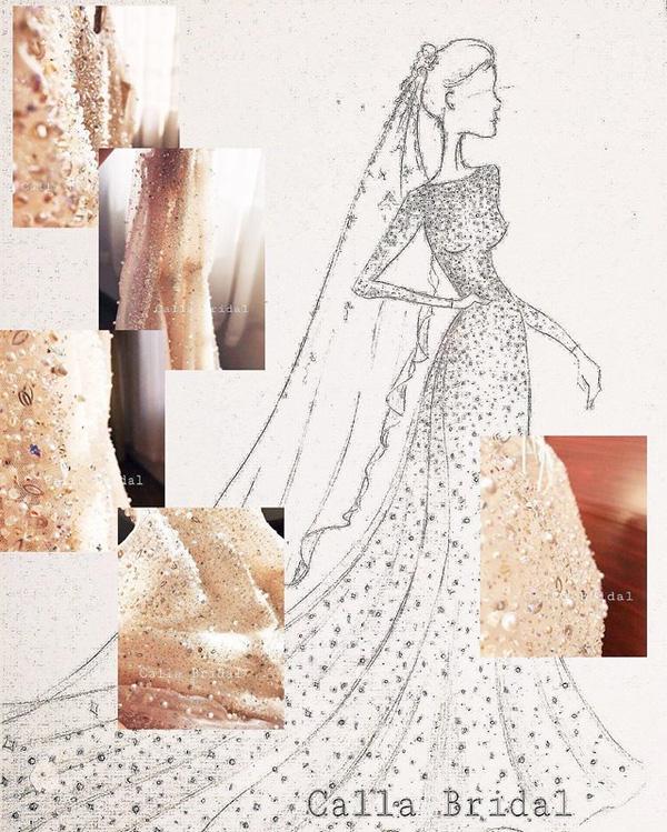 Cận cảnh váy cưới gắn 10.000 viên pha lê của MC thời tiết Mai Ngọc - Ảnh 1.
