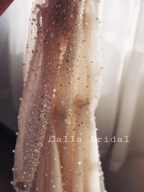 Cận cảnh váy cưới gắn 10.000 viên pha lê của MC thời tiết Mai Ngọc - Ảnh 12.