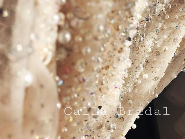 Cận cảnh váy cưới gắn 10.000 viên pha lê của MC thời tiết Mai Ngọc - Ảnh 9.