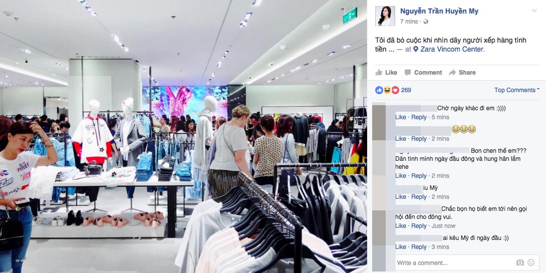 Gần đến giờ đóng cửa, store Zara Việt Nam vẫn đông nghịt, từng hàng dài chờ thanh toán hóa đơn cả chục triệu - Ảnh 3.