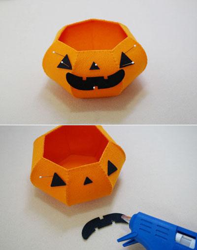 Làm giỏ bí ngô đựng kẹo tặng nhóc em dịp Halloween - Ảnh 7.