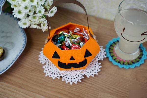 Làm giỏ bí ngô đựng kẹo tặng nhóc em dịp Halloween - Ảnh 10.