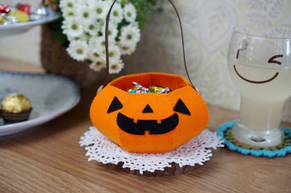 Làm giỏ bí ngô đựng kẹo tặng nhóc em dịp Halloween - Ảnh 11.