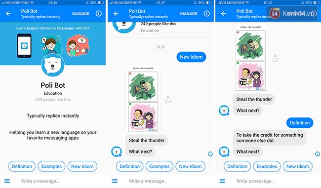 Học tiếng Anh dễ như ăn kẹo ngay trên Facebook Messenger, bạn phải thử ngay - Ảnh 8.